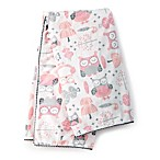 Levtex Baby Night Owl Plush Blanket in Pink