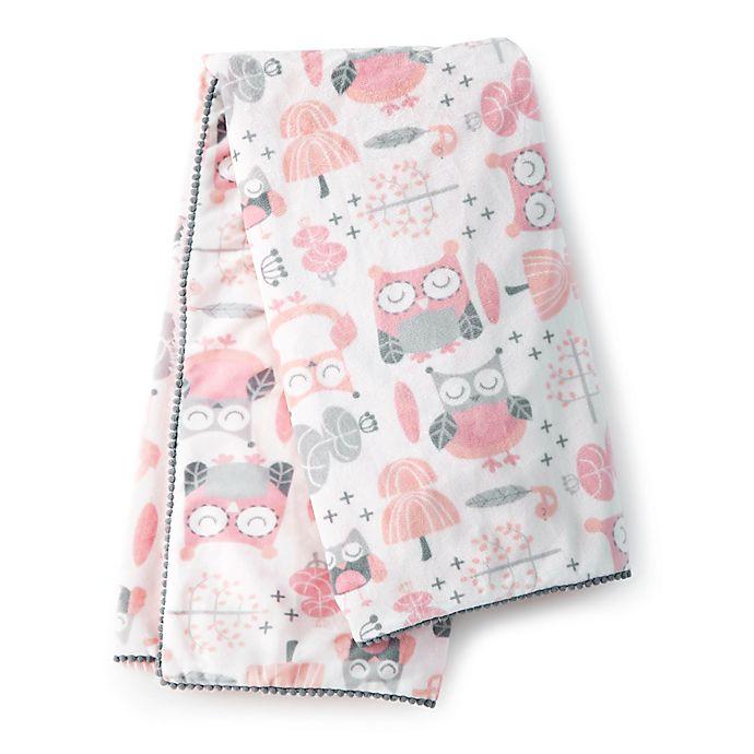 Alternate image 1 for Levtex Baby® Night Owl Plush Blanket in Pink