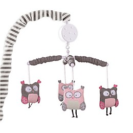 Levtex Baby Night Owl Musical Mobile in Pink