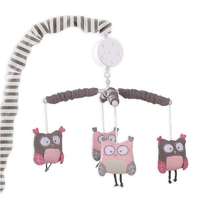 Alternate image 1 for Levtex Baby Night Owl Musical Mobile in Pink