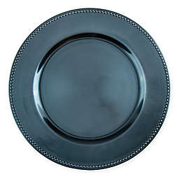 13-Inch Beaded Charger Plates in Teal (Set of 6)