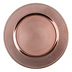 13-Inch Beaded Charger Plates in Copper (Set of 6)