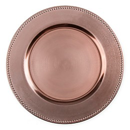 13-Inch Beaded Charger Plates (Set of 6)
