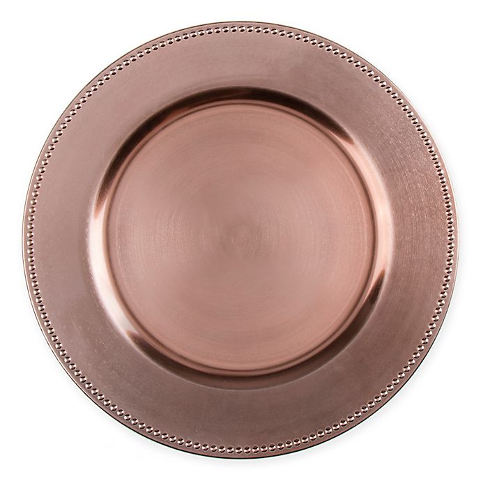 Alternate image 1 for 13-Inch Beaded Charger Plates (Set of 6)