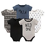 Yoga Sprout Wild One 6-9M 5-Pack Bodysuit Set