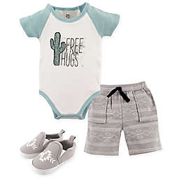 Yoga Sprout Free Hugs 3-Piece Bodysuit, Shorts and Shoes Set