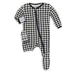 KicKee Pants® Houndstooth Coverall in Black