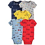 carter's® Transportation Size 3M 5-Pack Short Sleeve Bodysuits