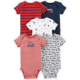 carter's® Mom's MVP 5-Pack Short Sleeve Bodysuits