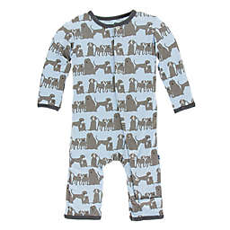 KicKee Pants® Dogs Layette Coverall in Blue