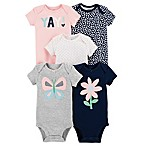 carter's® Newborn 5-Pack Butterfly Short-Sleeve Bodysuits