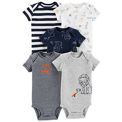 carter's® Animal 5-Pack Short Sleeve Bodysuits