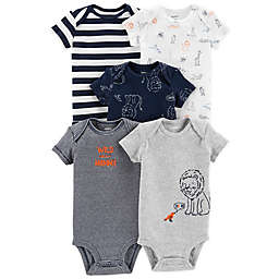 a6475e29a61fc6 carter s® Animal 5-Pack Short Sleeve Bodysuits