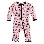 KicKee Pants® Size 3-6M Teatime Ruffle Coverall in Pink