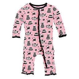 KicKee Pants® Teatime Ruffle Coverall in Pink
