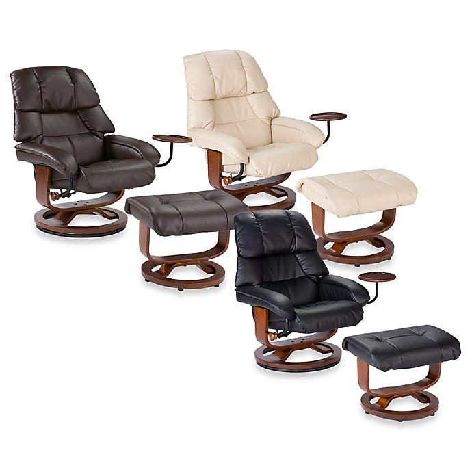 Cool Southern Enterprises Leather Recliner Ottoman W Accessory Uwap Interior Chair Design Uwaporg