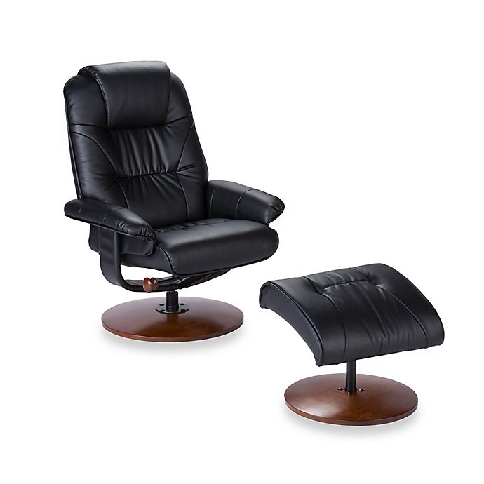 Cool Southern Enterprises Modern Leather Recliner And Ottoman Set Uwap Interior Chair Design Uwaporg
