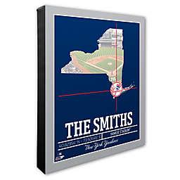MLB New York Yankees Team Coordinates Canvas Framed Print Wall Art