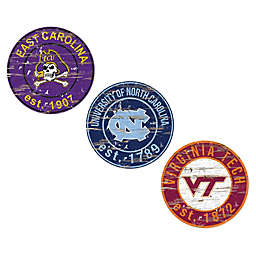 Collegiate 24-Inch Round Distressed Sign Collection