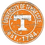 University of Tennessee 24-Inch Round Distressed Sign