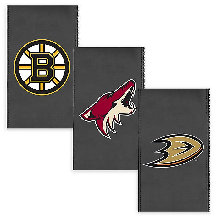 Alternate image 1 for NHL Faux Leather Logo Panel