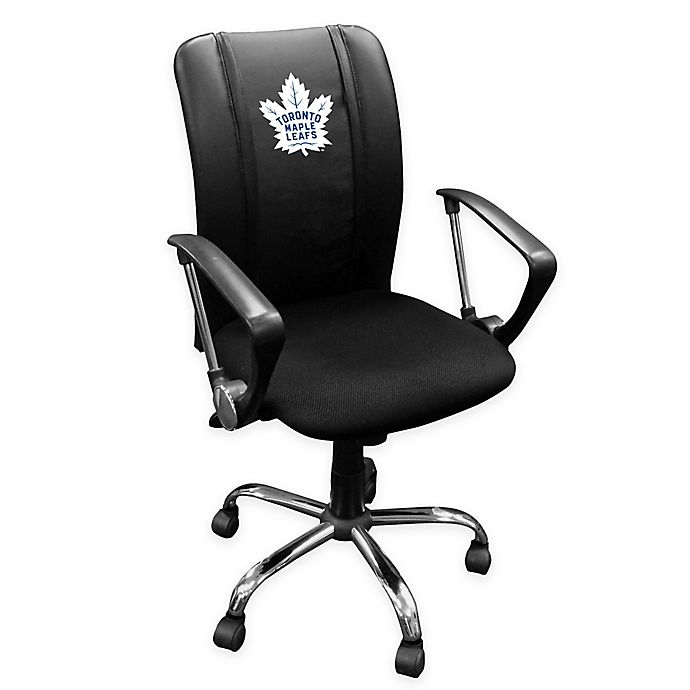 Surprising Nhl Toronto Maple Leafs Curved Office Chair Bed Bath Beyond Uwap Interior Chair Design Uwaporg