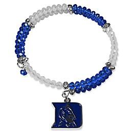 Duke University Metal Logo Pendant Football Bead Bracelet