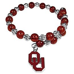 University of Oklahoma Metal Logo Pendant Bracelet