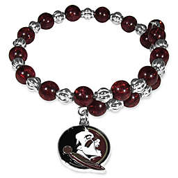 Florida State University Metal Logo Pendant Bracelet