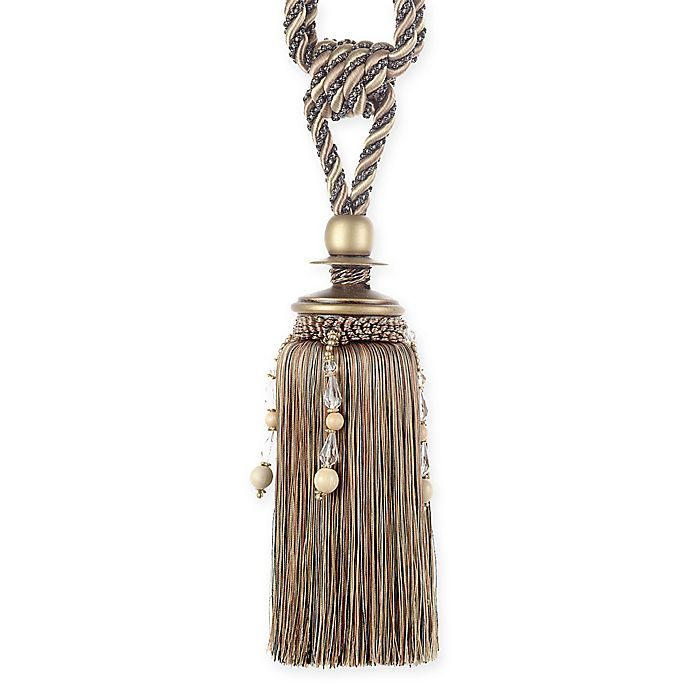 Alternate image 1 for Harmounious with Beads Tassel Tie Back in Brown/Taupe
