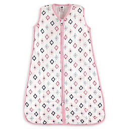 Hudson Baby® Size 12-18M Aztec Cotton Muslin Sleeping Bag in Pink/Navy