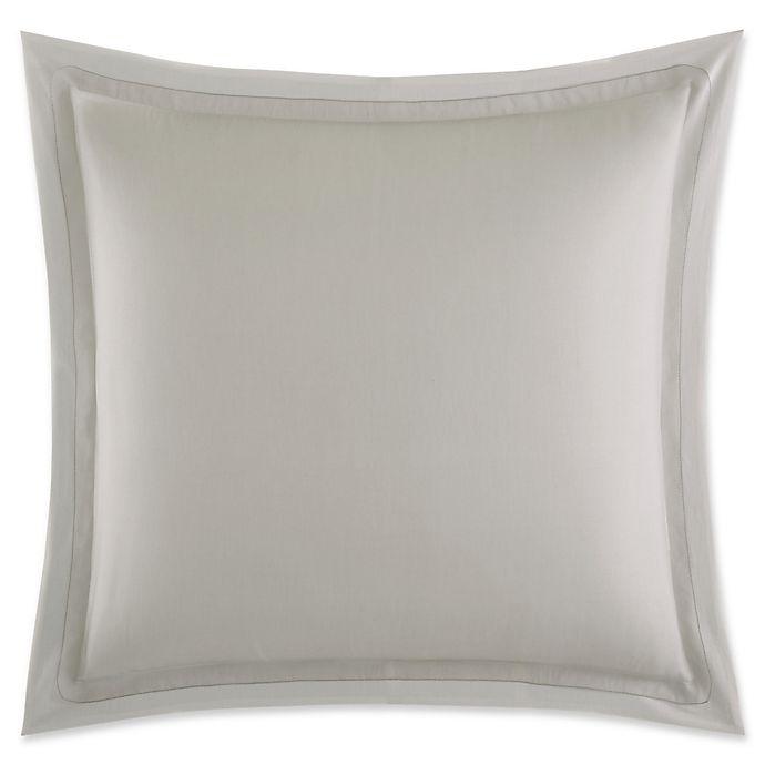 Alternate image 1 for Vera Wang™ Tuille Floral European Pillow Sham in Light Grey