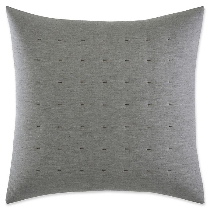 Alternate image 1 for Vera Wang™ Tuille Floral Tufted Square Throw Pillow in Grey