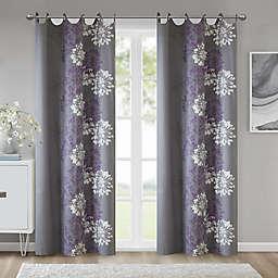 Madison Park™ Anaya Cotton 63-Inch Grommet Top Window Curtain Panel in Purple/Grey (Single)