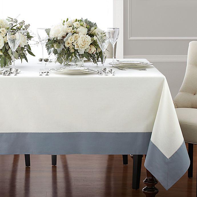 Alternate image 1 for Wamsutta® Bordered Linen Tablecloth