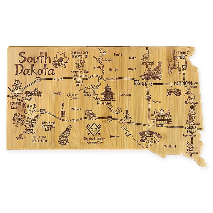 Alternate image 1 for Totally Bamboo® South Dakota Destination Cutting Board