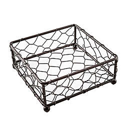Thirstystone® Square Chicken Wire Coaster Holder in Brown