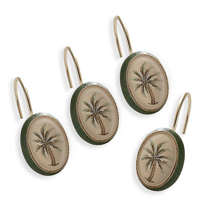 Palm Tree Shower Curtain Hooks Set Of 12