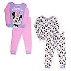Disney® Size 18M 4-Piece Minnie Mouse Adorable Pajama Set