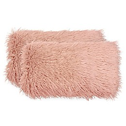 Boho Living Mongolian Faux Fur Rectangular Decorative Pillows (Set of 2)