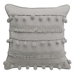 Boho Living Fiji Pompom Square Decorative Pillow