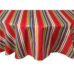 Destination Summer Mystic Stripe 70-Inch Round Indoor/Outdoor Tablecloth