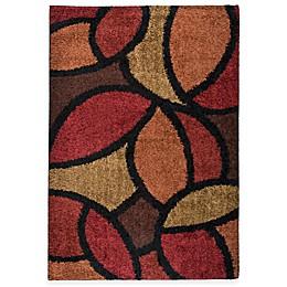 Aria Rugs Shagadelic Bloom Petal Rouge Rectangle Rug