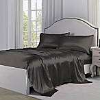 Satin Perfection Standard Pillowcases in Charcoal (Set of 2)