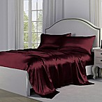 Satin Perfection Standard Pillowcases in Burgundy (Set of 2)