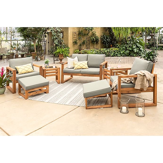 Alternate image 1 for Forest Gate Otto 7-Piece Acacia Wood Patio Chat Set in Brown