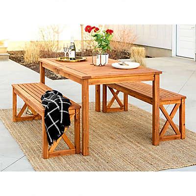 Forest Gate Aspen 3-Piece Acacia Wood Patio Dining Set
