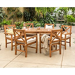 Forest Gate™ Aspen 7-Piece Acacia Patio Dining Set with Cushions