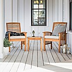 Forest Gate Arvada 3-Piece Acacia Wood Outdoor Chat Set in Brown