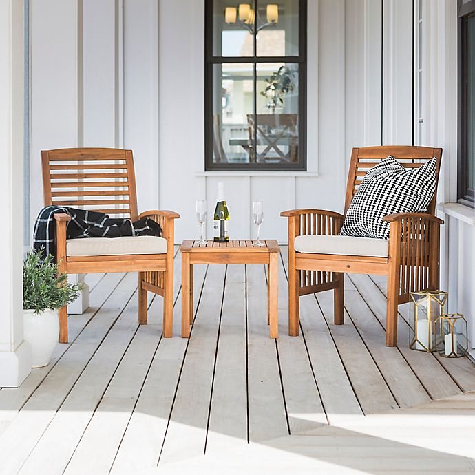 Alternate image 1 for Forest Gate Arvada 3-Piece Acacia Wood Outdoor Chat Set